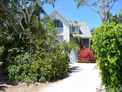Sanibel FL Single Family Home For Sale: $1,350,000