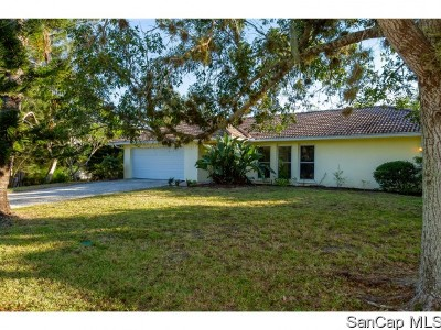 Sanibel FL Single Family Home For Sale: $650,000
