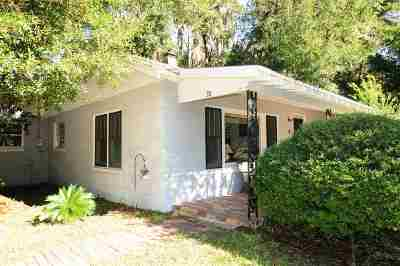 St Augustine Single Family Home For Sale: 28 Williams St