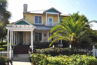 St Augustine Beach Single Family Home For Sale: 605 Ocean Palm Way