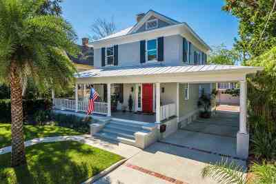 St Augustine Single Family Home For Sale: 264 St George Street