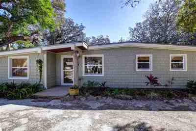 St Augustine Single Family Home For Sale: 19 Fancher