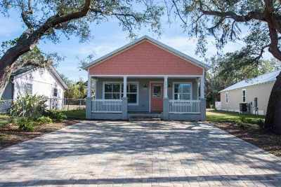 St Augustine Beach Single Family Home For Sale: 2410 Oleander Street