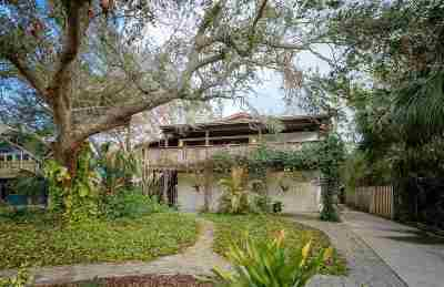 St Augustine Single Family Home For Sale: 144 Manresa Rd
