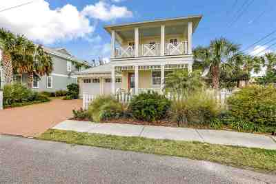 St Augustine Beach Single Family Home For Sale: 200 12th St