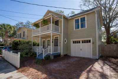 St Augustine Single Family Home For Sale: 25 Lovett St.