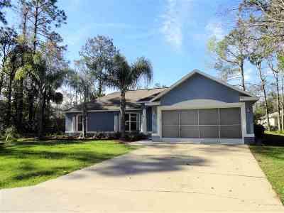 Palm Coast Single Family Home For Sale: 26 Pontiac Ln