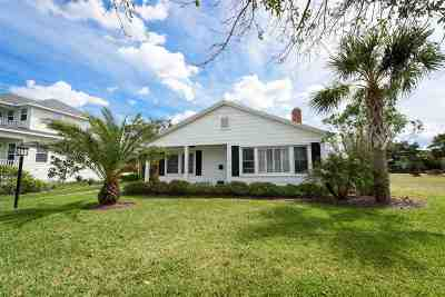 St Augustine Beach Single Family Home For Sale: 204 Inlet Dr