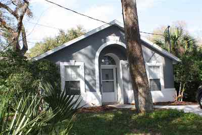 St Augustine Beach Single Family Home For Sale: 414 C Street.