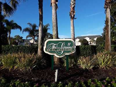 St Augustine Condo For Sale: 1601 Prestwick Place #1601