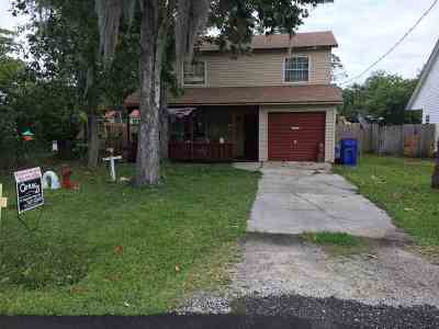 St Augustine FL Single Family Home For Sale: $150,000