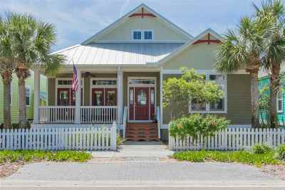 St Augustine Beach Single Family Home For Sale: 764 Ocean Palm Way