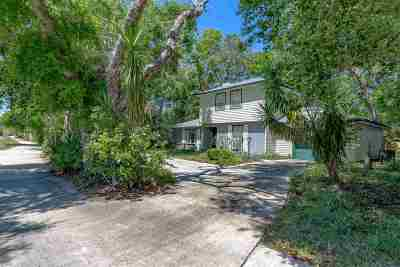 St Augustine Beach Single Family Home For Sale: 518 A Street