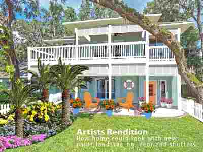 St Augustine Single Family Home For Sale: 715 Gerona Road