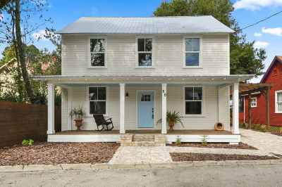 St Augustine Single Family Home For Sale: 88 Lincoln St.