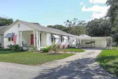 St Augustine Single Family Home For Sale: 8 Poinciana Ave