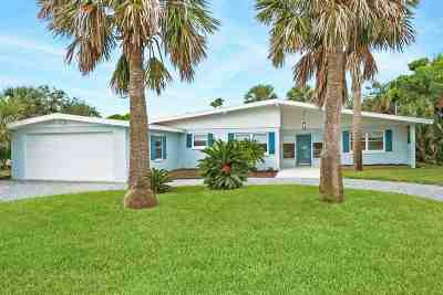 St Augustine Beach Single Family Home For Sale: 91 Ocean Dr.