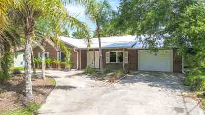 St Augustine Beach FL Single Family Home For Sale: $389,500