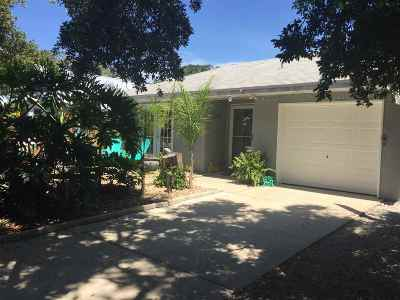 St Augustine Beach FL Single Family Home For Sale: $399,000