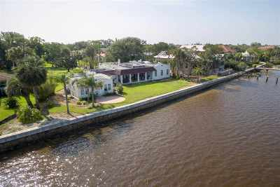 Davis Shores Single Family Home For Sale: N 34 St Augustine Blvd