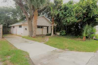St Augustine Beach FL Single Family Home For Sale: $299,000