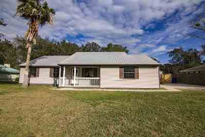 St Augustine Single Family Home For Sale: 417 Segovia Rd