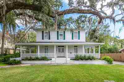 St Augustine Single Family Home For Sale: 27 Riberia Street