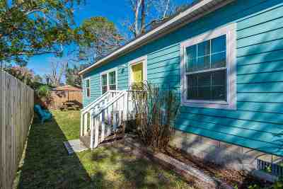 St Augustine Single Family Home For Sale: 38 Smith Street