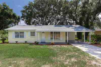 St Augustine Beach Single Family Home For Sale: 131 16th Street
