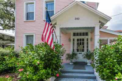 St Augustine Single Family Home For Sale: 340 Charlotte Street