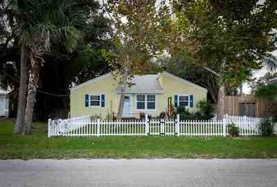 St Augustine Beach Single Family Home For Sale: 123 16th Street