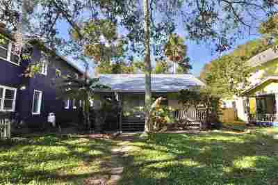 St Augustine Single Family Home For Sale: 150 Washington St