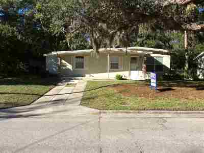 St Augustine Single Family Home For Sale: 204 Spring St
