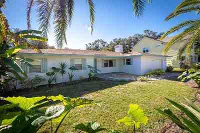 St Augustine Beach Single Family Home For Sale: 611 Poinsettia St