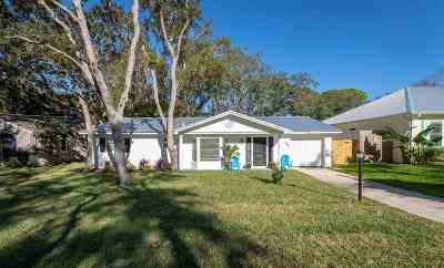 St Augustine Beach Single Family Home For Sale: 606 Mariposa St.