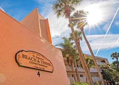 St Augustine Beach Condo For Sale: 4 Ocean Trace Rd #115 #115
