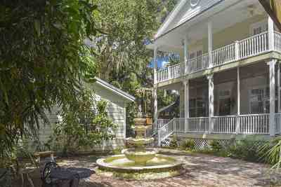 St Augustine Single Family Home For Sale: 13 Sanchez Ave