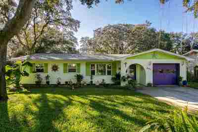 St Augustine Single Family Home For Sale: 607 Mariposa Street