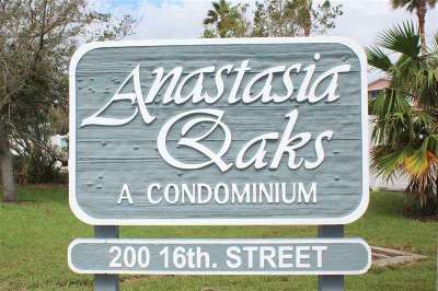 St Augustine Beach Condo For Sale: 200 16th Street, Garage# 5