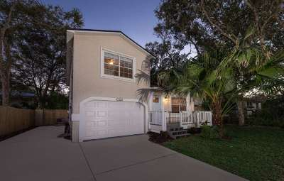 St Augustine Beach Single Family Home For Sale: 313 A