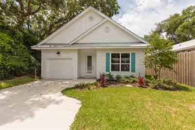 St Augustine Single Family Home For Sale: 313 B Street