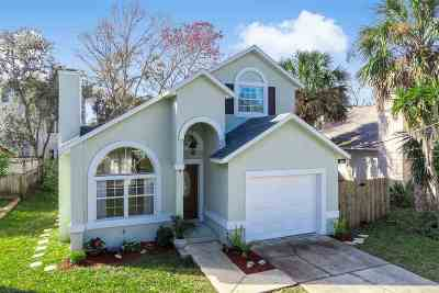 St Augustine Beach FL Single Family Home For Sale: $369,000