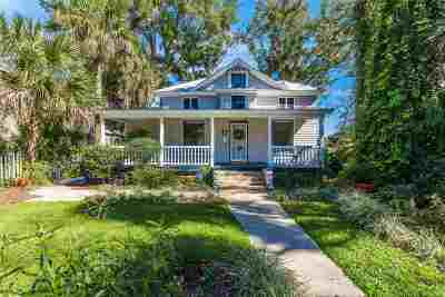 St Augustine Single Family Home For Sale: 65 Sanford Street