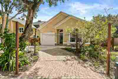 St Augustine Beach Single Family Home For Sale: 213 6th Street
