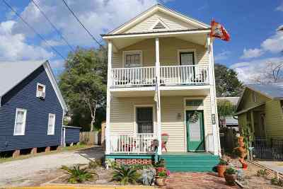 St Augustine Single Family Home For Sale: 63 Abbott Street