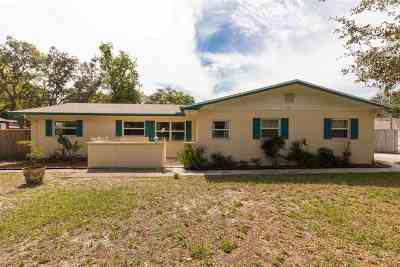 St Augustine Single Family Home For Sale: 608 Segovia Rd.