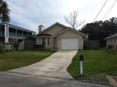 St Augustine Beach Single Family Home For Sale: 207 C Street