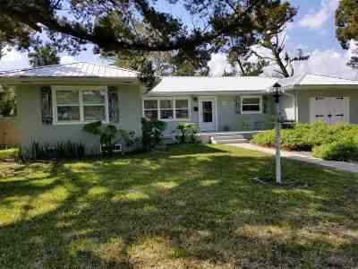 St Augustine Beach Single Family Home For Sale: 55 Coquina Ave