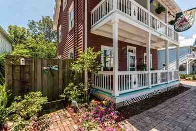 St Augustine Single Family Home For Sale: 15 Pine Street