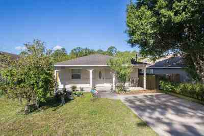 St Augustine FL Single Family Home For Sale: $185,000